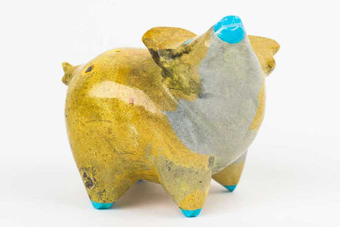 Travertine Zuni Pig Fetish by Enrike Leekya - Turquoise Village - 1