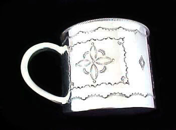 Navajo Sterling Silver Baby Cup - Turquoise Village