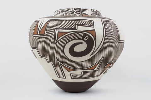 Zuni Eagle Design Pot by Jennie Laate - Turquoise Village - 1