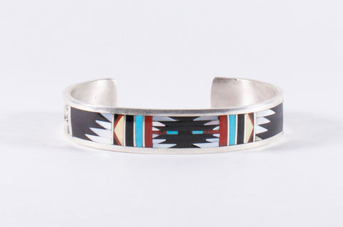 Zuni Multistone Inlay Bracelet by Charlotte Dishta - Turquoise Village - 1