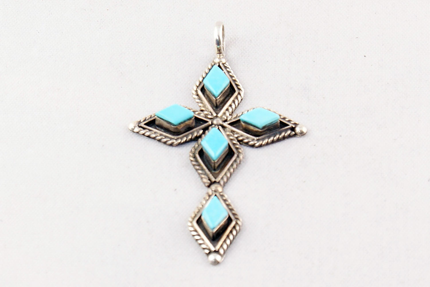 Zuni turquoise four stone cross pendant by priscilla chavez zuni turquoise four stone cross pendant by priscilla chavez turquoise village 1 aloadofball Image collections
