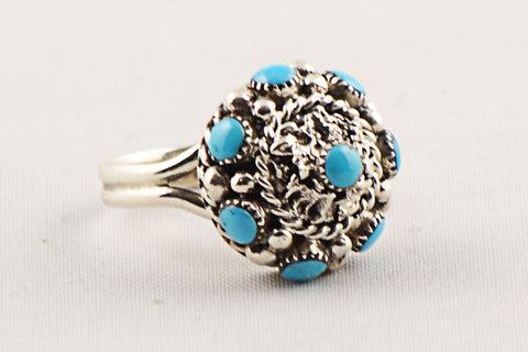 Zuni Turquoise Ring by Darlene Weebothee - Turquoise Village