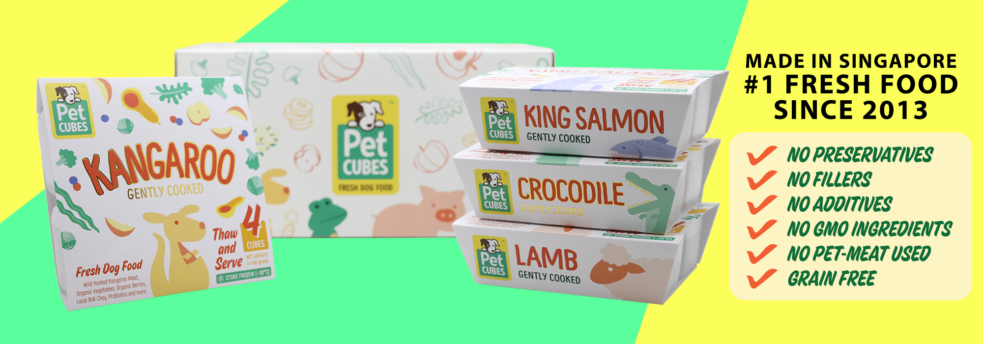 Pet Cube Pet Food and Treat banner
