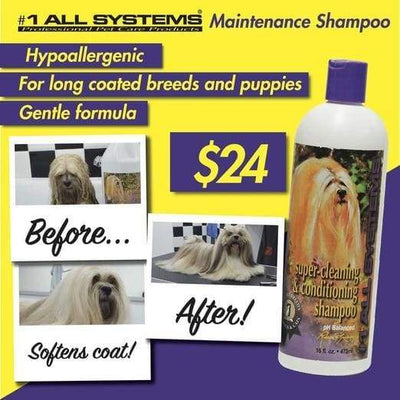 #1 All Systems #1 All Systems Super Cleaning & Conditioning Shampoo Grooming & Hygiene