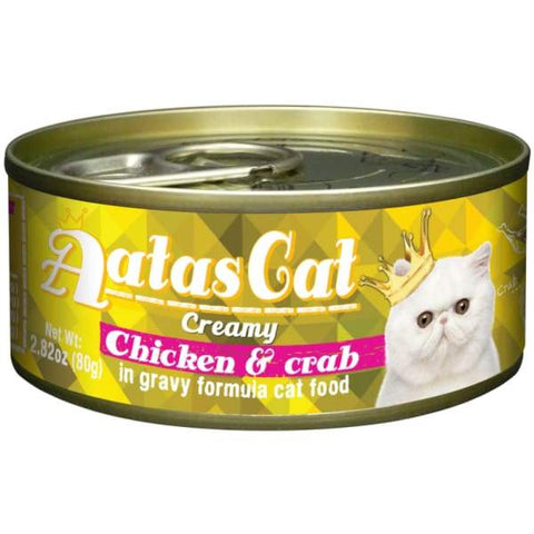 Aatas Cat Aatas Cat Creamy Chicken & Crab In Gravy Canned Cat Food 80g Cat Food & Treats