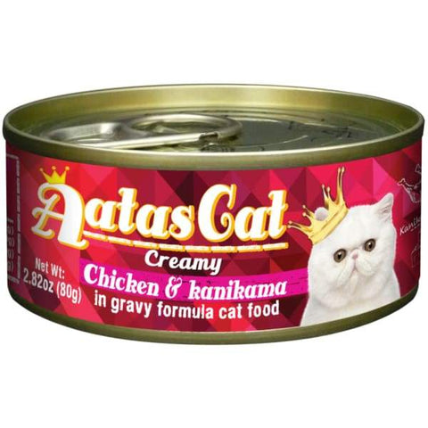 Aatas Cat Aatas Cat Creamy Chicken & Kanikama In Gravy Canned Cat Food 80g Cat Food & Treats