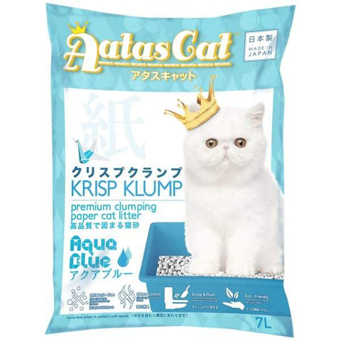 Aatas Cat Aatas Cat Krisp Klump Paper Cat Litter Aqua Blue 7L Cat Litter & Accessories