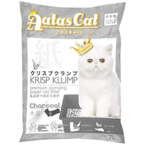 Aatas Cat Aatas Cat Krisp Klump Paper Cat Litter Charcoal 7L Cat Litter & Accessories