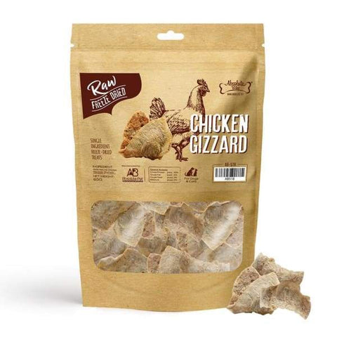 Absolute Bites [3 for $29] Absolute Bites Chicken Glizzard Freeze-dried Raw Dog & Cat Treats 65g Dog Food & Treats