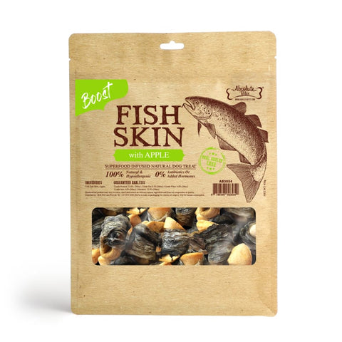 Absolute Bites [$11 OFF] Absolute Bites Fish Skin With Apple Air-Dried Dog Treats 450g Dog Food & Treats