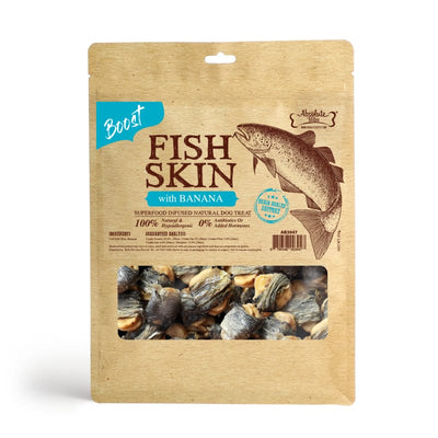 Absolute Bites [$11 OFF] Absolute Bites Fish Skin With Banana Air-Dried Dog Treats 450g Dog Food & Treats