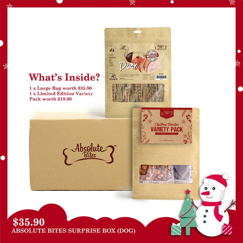 Absolute Bites Absolute Bites Christmas Surprise Box Dog Treats Dog Food & Treats