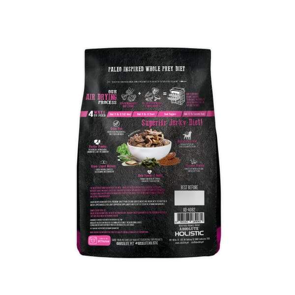 Absolute Holistic [2 for $88] Absolute Holistic Air Dried Beef & Hoki Dog Food 1kg Dog Food & Treats
