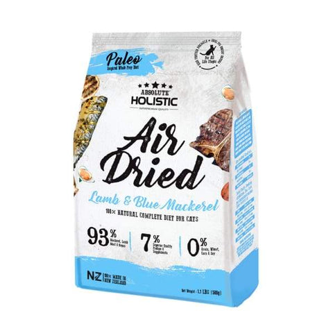 Absolute Holistic Absolute Holistic Blue Mackerel & Lamb Air Dried Cat Food 500g Cat Food & Treats