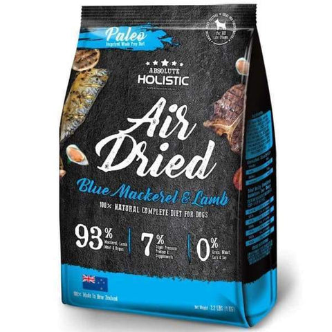 Absolute Holistic [3 for $129.90] Absolute Holistic Air Dried Blue Mackerel & Lamb Dog Food 1kg Dog Food & Treats