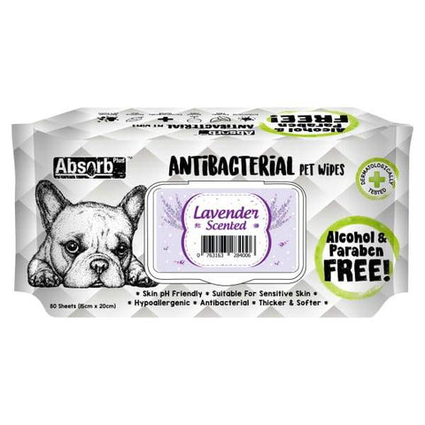 Absorb Plus [3 for $11] Absorb Plus AntiBacterial Lavender Pet Wipes 80pcs Grooming & Hygiene