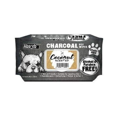 Absorb Absorb Plus Charcoal Pet Wipes 80pcs (Coconut) [PROMO] 3 FOR $15 Grooming & Hygiene