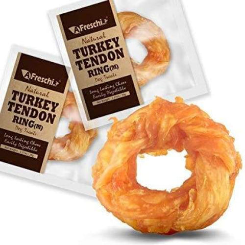 Afreschi Afreschi Natural Turkey Tendon Ring 2 Sizes Dog Food & Treats