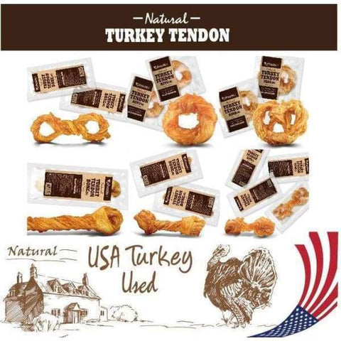 Afreschi [Up To 20% Off!] Afreschi Natural Turkey Tendons Medium Dog Food & Treats