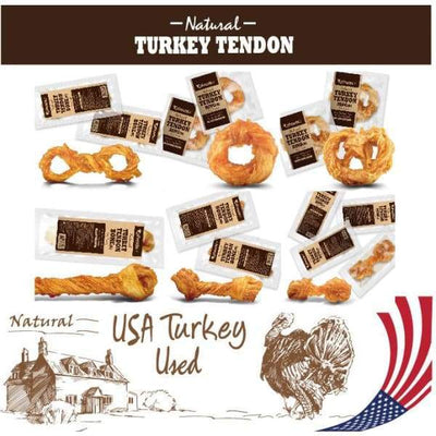 Afreschi [Up To 20% Off!] Afreschi Natural Turkey Tendons Small Dog Food & Treats