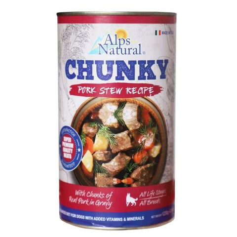 Alps Natural Alps Natural Chunk Pork With Premium Meat Canned Dog Food 1.23kg Dog Food & Treats