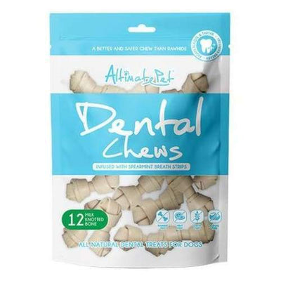 Altimate Pet [22% OFF] Altimate Pet Dental Chews Milk Knotted Bone 150g (12 pcs) Dog Food & Treats