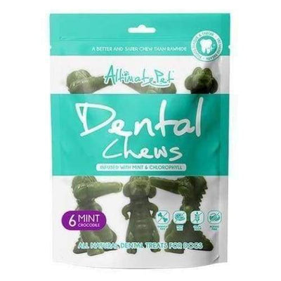Altimate Pet [22% OFF] Altimate Pet Dental Chews Mint Crocodile 150g (6 pcs) Dog Food & Treats