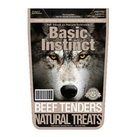 Basic Instinct Basic Instinct Beef Tenders Dog Treat 200g Dog Food & Treats