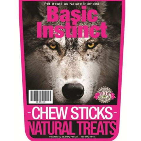 Basic Instinct Basic Instinct Chew Sticks Natural Dog Treats 200g Dog Food & Treats