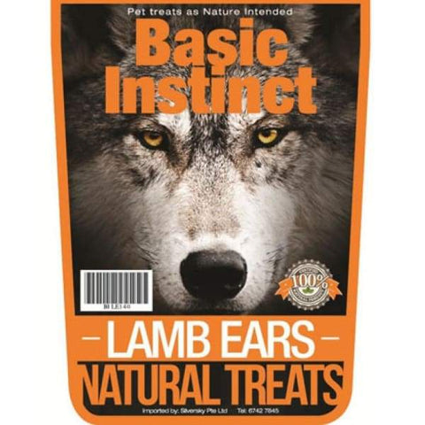 Basic Instinct Basic Instinct Lamb Ears Natural Dog Treats 140g Dog Food & Treats