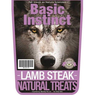 Basic Instinct Basic Instinct Lamb Steak Natural Dog Treats 130g Dog Food & Treats