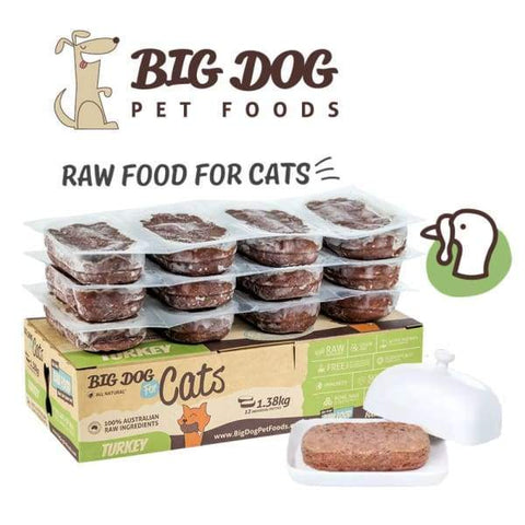 Big Dog Big Dog BARF Turkey Frozen Raw Cat Food Cat Food & Treats