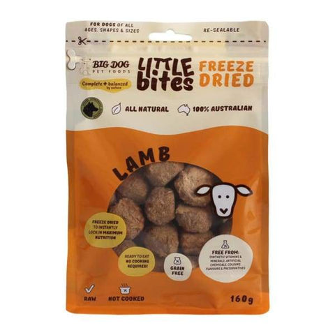Big Dog [15% OFF!] Big Dog Lamb Little Bites Freeze-dried Raw Dog Food 160g Dog Food & Treats