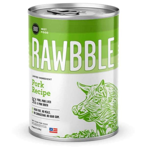 BIXBI BIXBI RAWBBLE Pork Recipe Canned Dog Food 354g Dog Food & Treats