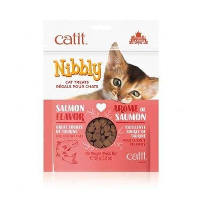 Catit Catit Nibbly Cat Treats - Salmon Flavour Cat Food & Treats