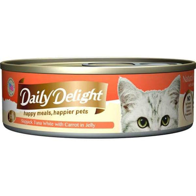 Daily Delight Daily Delight Skipjack Tuna White with Carrot in Jelly Canned Cat Food 80g Cat Food & Treats