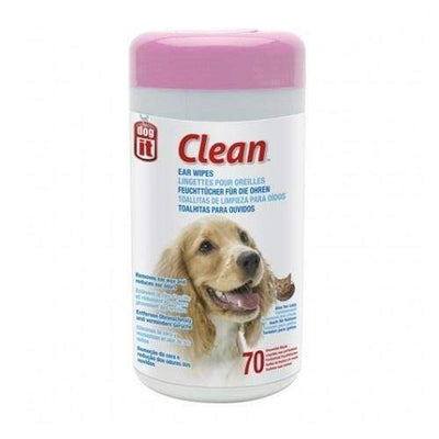 Dogit Dogit Clean Ear Wipes - 70 Unscented Wipes Grooming & Hygiene