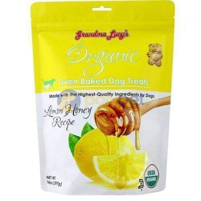 Grandma Lucys [10% OFF] Grandma Lucys Organic Lemon & Honey Oven Baked Dog Treats 14oz Dog Food & Treats