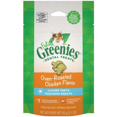 Greenies [20% OFF] Greenies Oven Roasted Chicken Flavour Cat Dental Treats 2.1oz Cat Food & Treats