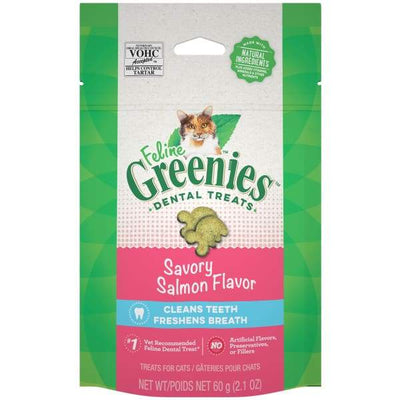 Greenies [20% OFF] Greenies Savory Salmon Flavour Cat Dental Treats 2.1oz Cat Food & Treats