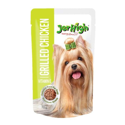 JERHIGH Jerhigh Grilled Chicken Pouch 70g Dog Food & Treats