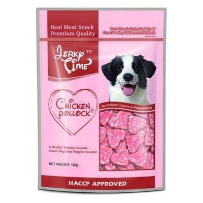Jerky Time Jerky Time Heart Shape Chicken & Pollock Dog Treats 100G Dog Food & Treats