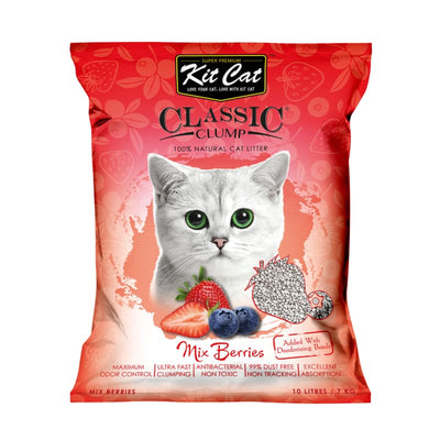 Kit Cat [11.11 | 2 FOR $11] Kit Cat Classic Clump Mix Berry Cat Litter 10L Cat Litter & Accessories