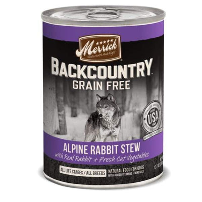 Merrick Merrick Backcountry Grain-Free Hearty Alpine Rabbit Stew Canned Dog Food 360g Dog Food & Treats