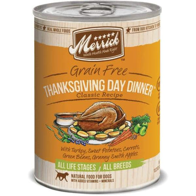 Merrick Merrick Classic Grain-Free Thanksgiving Day Dinner Canned Dog Food 374g Dog Food & Treats