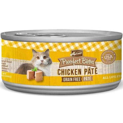 Merrick Merrick Purrfect Bistro Grain-Free Chicken Pate Canned Cat Food 156g Cat Food & Treats
