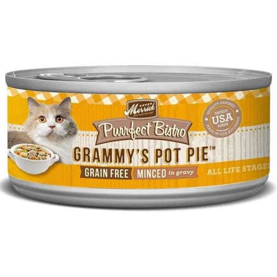 Merrick Merrick Purrfect Bistro Grain Free Grammys Pot Pie Canned Cat Food 156g Cat Food & Treats