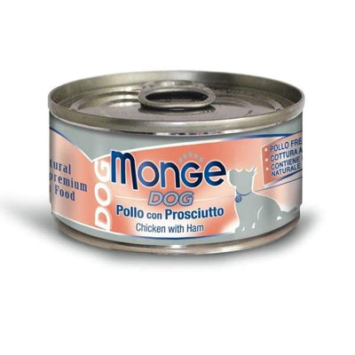 Monge Monge Chicken With Ham Canned Dog Food 95g Dog Food & Treats