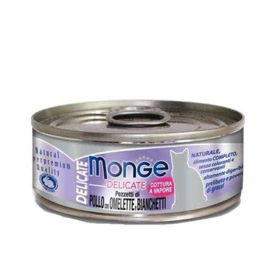 Monge Monge Delicate Chicken with Omelette and Whitebait Canned Cat Food 80g Cat Food & Treats