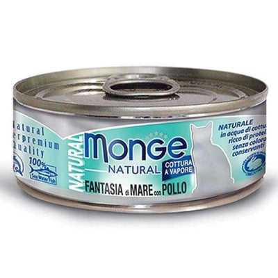 Monge Monge Natural Seafood Mixed With Chicken Canned Cat Food 80g Cat Food & Treats